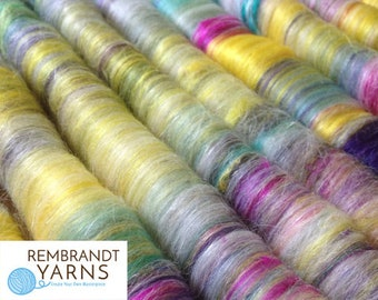 Rolags Hand Blended, Rolag, Spinning Rolags, Spinning Fiber, Rolag Set, Hand Spinning Fiber