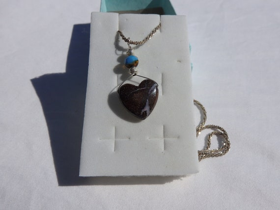 29.20 Carat Boulder Opal  Tributary 2  Natural Australian Opal Hand Crafted Bail Sterling Silveer Chain Sterling Beads