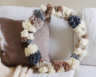 Anthro-Inspired Pom Pom Wreath