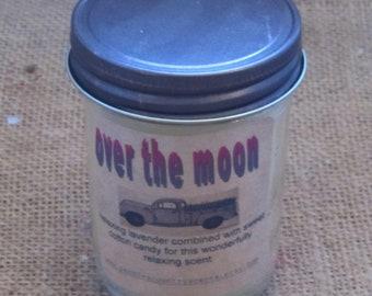 Farmhouse jelly jar candle Over the moon