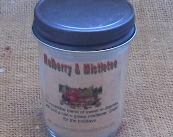 Farmhouse jelly jar candle Mulberry & Mistletoe