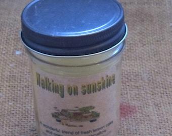 Farmhouse jelly jar candle Walking on sunshine
