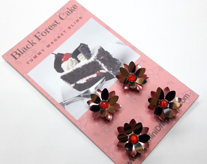 Strong Magnets, Eco-Friendly Magnets, Upcycled Soda Can Magnets in Chocolate Brown and Cherry Red
