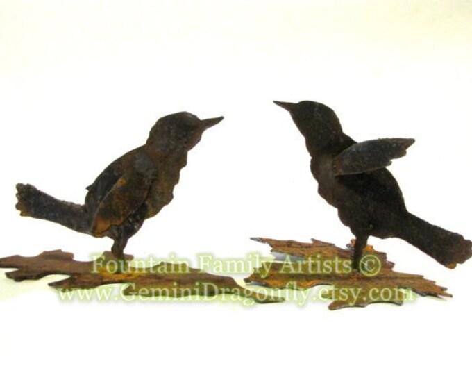 Bird Garden Art, Little Wren from Recycled Rusty Metal