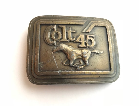 Colt 45 Revolver Firearm Belt Buckle 1977 Indiana