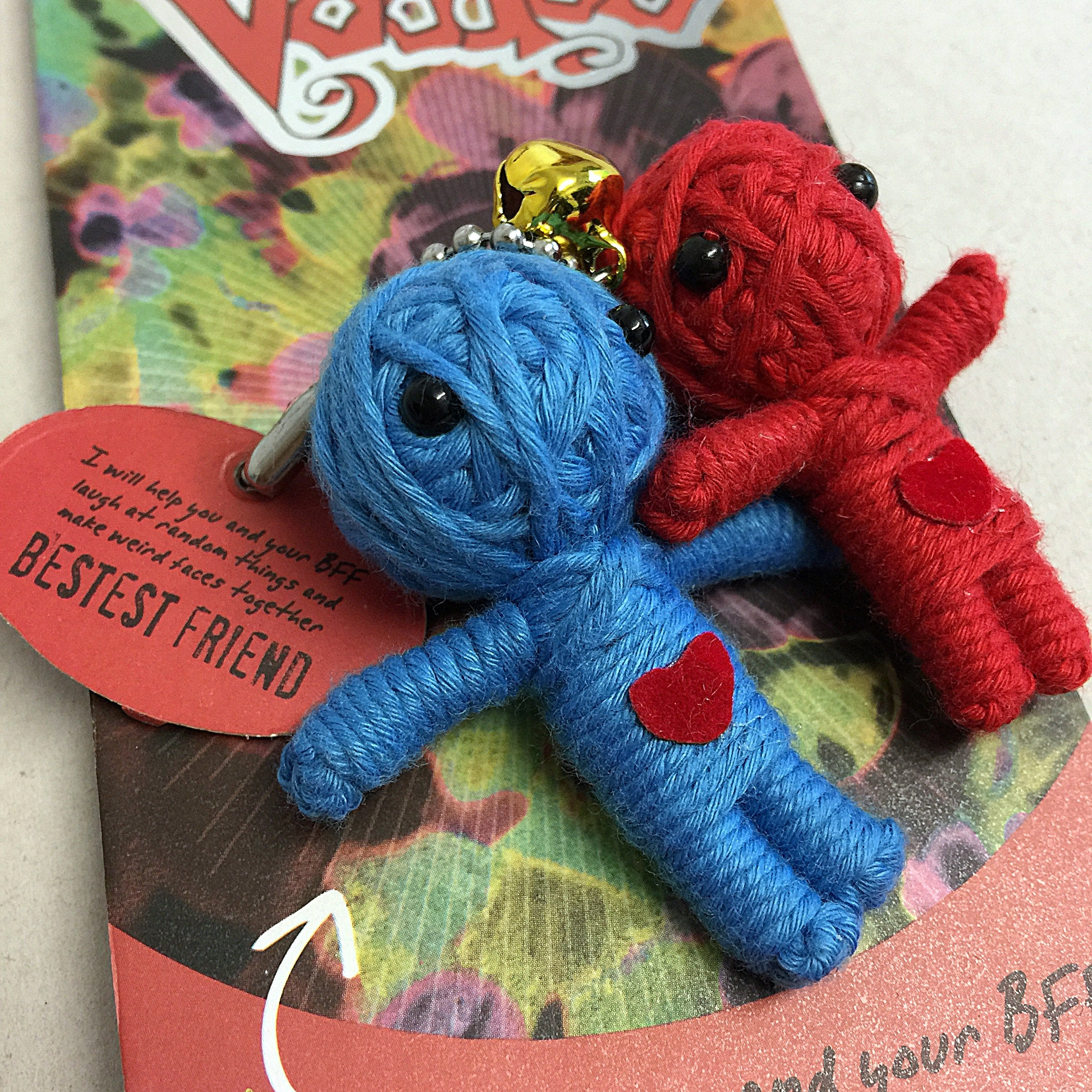 """Bestest Friend  3/"""" New Lucky Charm Watchover Voodoo Doll"""
