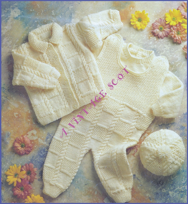 6a194afc166e Baby   Toddler Jacket Jumper Dungarees and Hat in DK 8ply