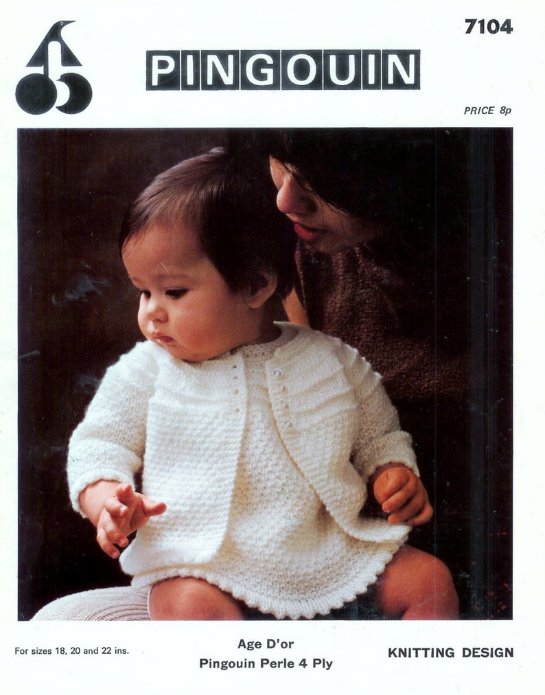 1b2450c39 Baby Jacket   Knitting Pattern Instructions in English   PDF