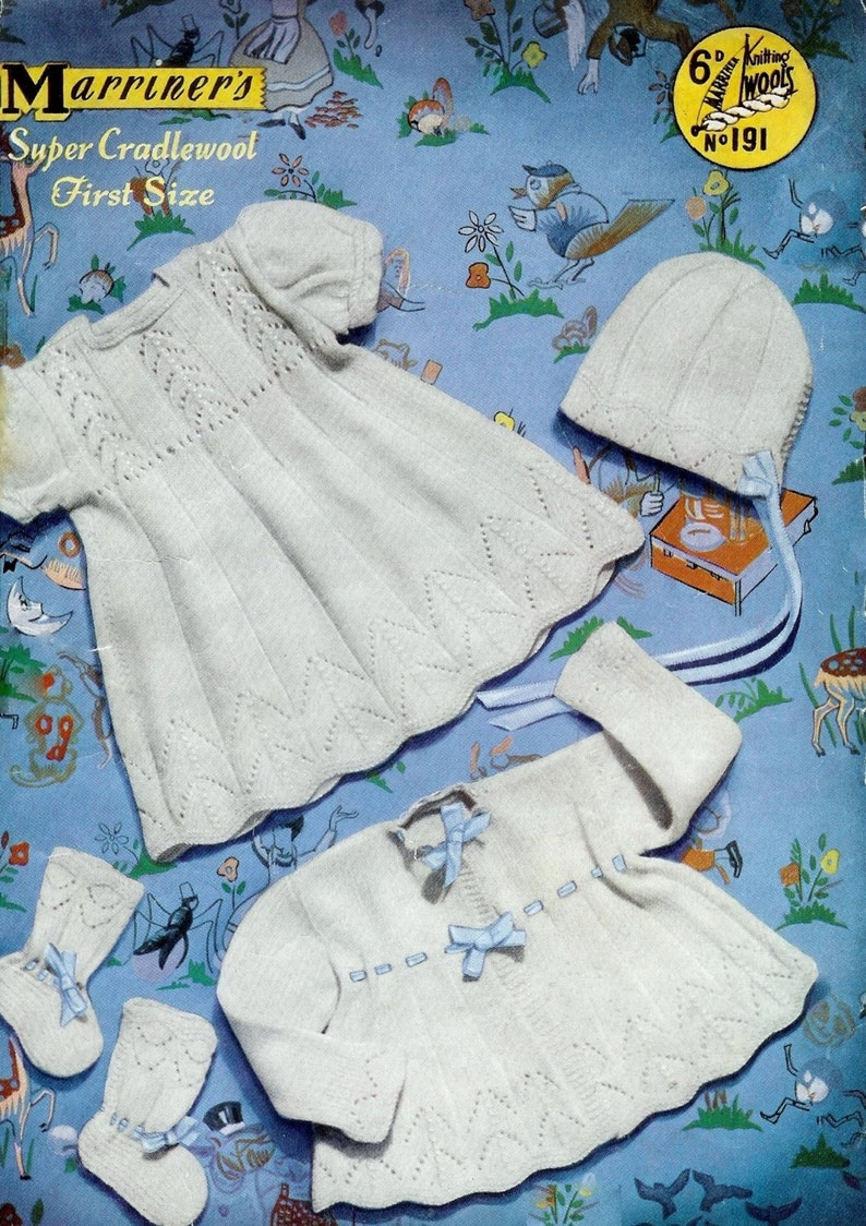 94e287a7d090c6 Baby Christening Set 4 ply Christening Robe   Dress Jacket