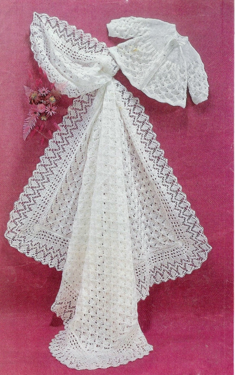 2678447545ef Baby Matinee Jacket and Christening Shawl instructions for