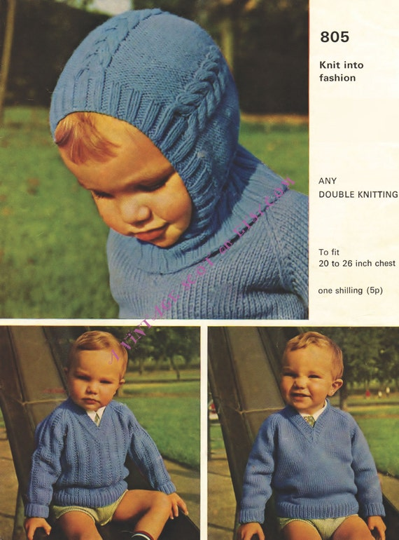 Balaclava Pattern Baby Helmet Pattern Vintage Knit Child Etsy