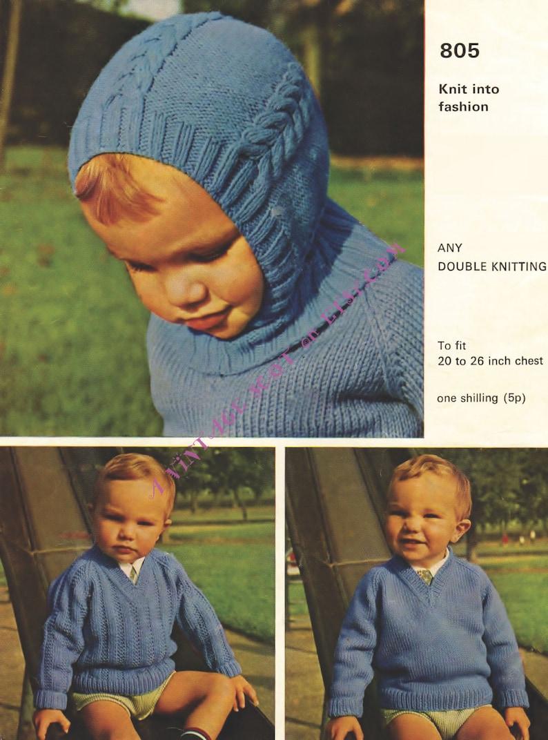 9949a6bba892 Balaclava Pattern Baby Helmet Pattern Vintage Knit Child