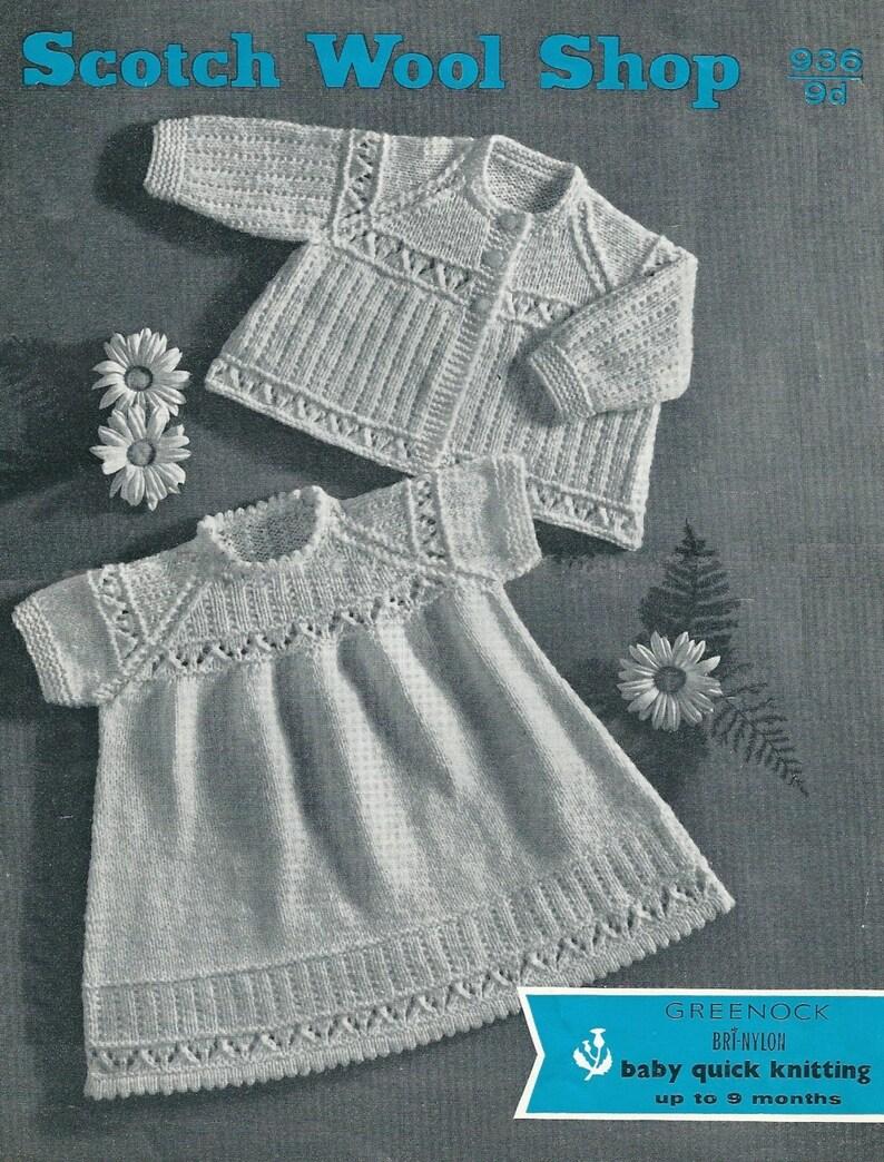 0a50a4fb7 Vintage PDF Baby Knitting Pattern Scotch Wool Shop 936 QK