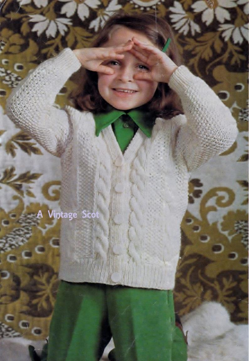 0838428d4bf7af Toddler   Child s Aran Fisherman s Knit V-neck Jacket