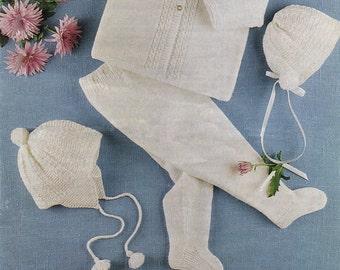 ON SALE - Vintage pdfBaby  Knitting Patterns Ladyship 4430 - 4ply & QK Pram Set          20-22ins