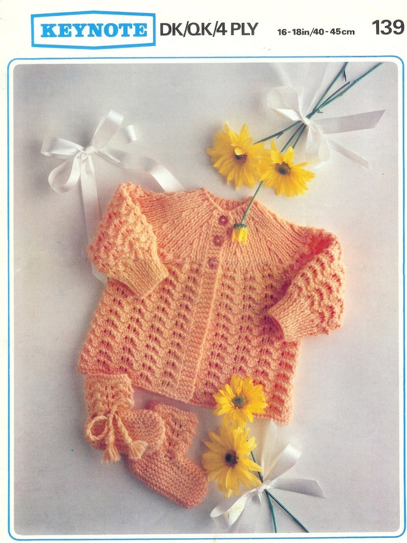 0df473db8 Baby 4ply Qk Dk Matinee Jacket   bootees 16-18ins PDF of