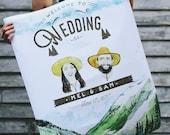 Custom Watercolor Wedding Posters