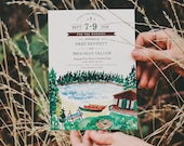 Rustic Watercolor Save The Dates