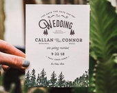 Letterpress Mountain Wedding Save The Date
