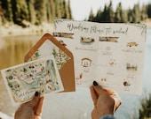 Watercolor Lakeside Wedding Invitation