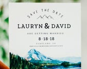 Watercolor Mountain Save The Date