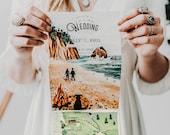 Watercolor Wedding Invitation: Coastal Inspired Quad-Fold