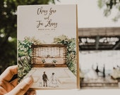 Rustic and Whimsical Watercolor Invitation: Story-Book Style