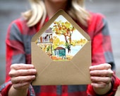 Custom Watercolor Envelope Liners
