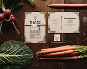 Watercolor Wedding Save the Date: Farm to Table Watercolor Inspired