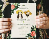 Botanical Inspired Rustic Wedding Invitation: Garden and Florals