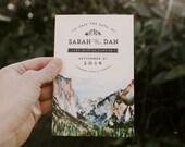 Yosemite Watercolor Save the Date