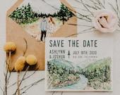 Big Sur Watercolor Save The Date