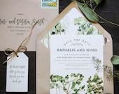 Rustic Tree Watercolor Save The Date