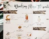 Rustic Timeline Watercolor Storybook Wedding Invitation
