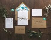Rustic Garden Letterpress Wedding Invitation: Floral Inspired
