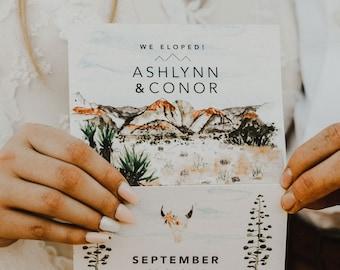Zion Folded Wedding Invitation
