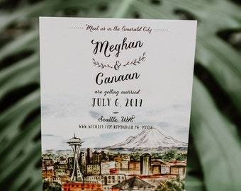 Northwest Watercolor Save the Date