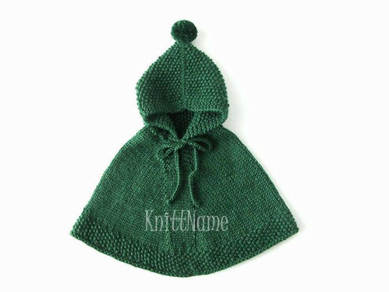 1f725fc4f Boy Alpaca Hooded Poncho Green Hand Knit Cape Baby Toddler