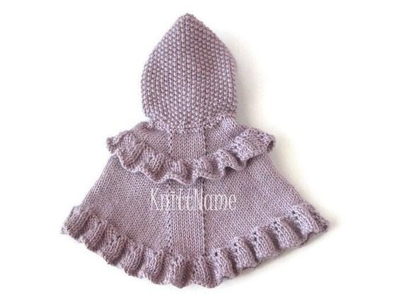 Poncho Lila Bébé Enfant En Bas âge En Tricot De Pull