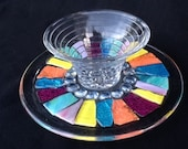 Trinket holder, ring holder, Candy Dish , Stained Glass