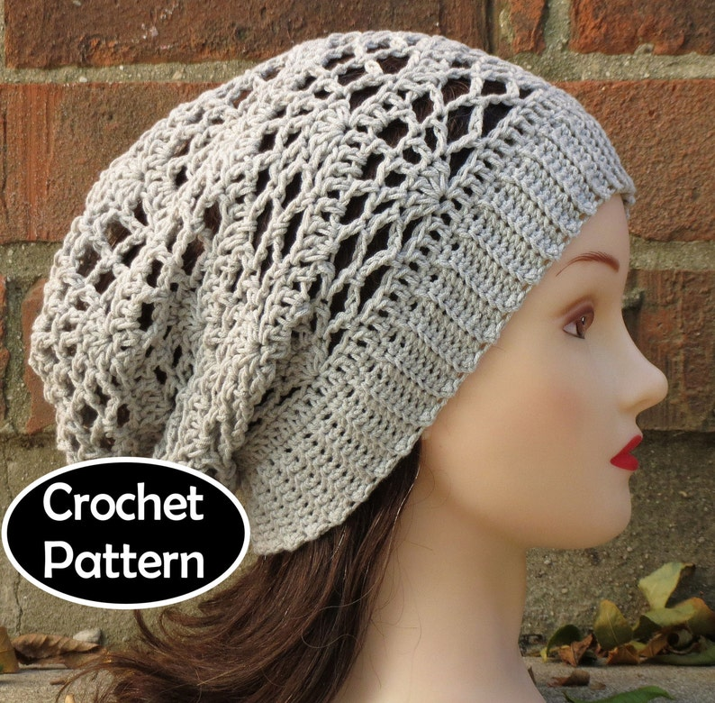 eb48517fa3f CROCHET HAT PATTERN Instant Download Arachne Slouchy Beanie