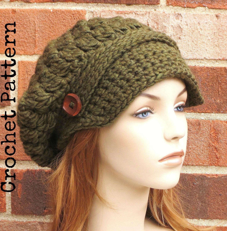 Crochet Hat Pattern Instant Pdf Download Aoife Newsboy Etsy
