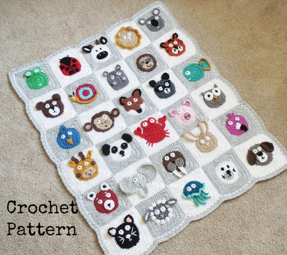 BABY BLANKET PATTERN Crochet Pattern Instant Download Pdf Etsy Enchanting Baby Blanket Patterns Crochet