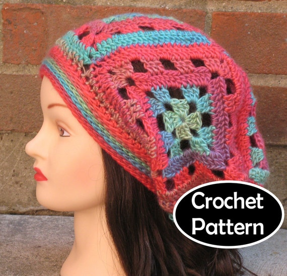Crochet Hat Pattern Pdf Instant Download Cassidy Slouchy Etsy