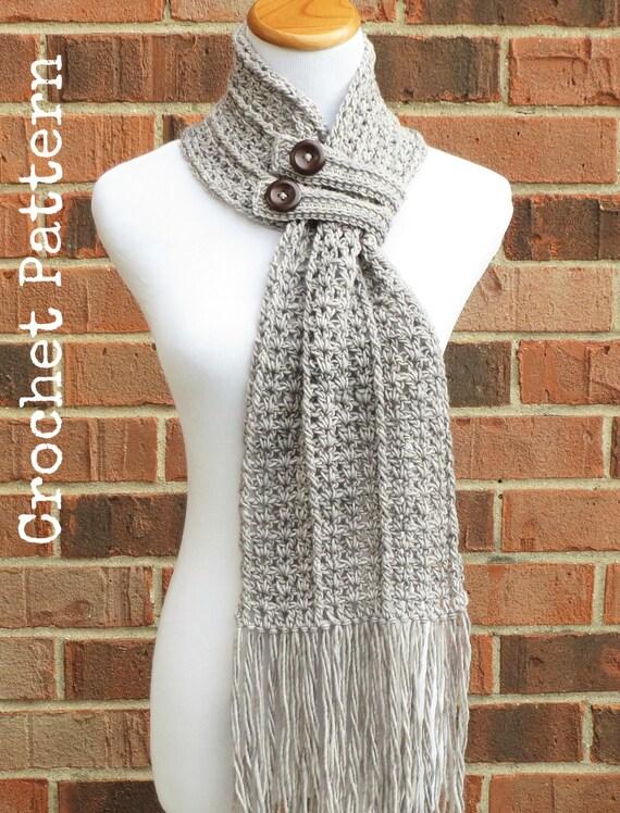 Crochet Scarf Pattern Crochet Cowl Button Scarf Neckwarmer Etsy
