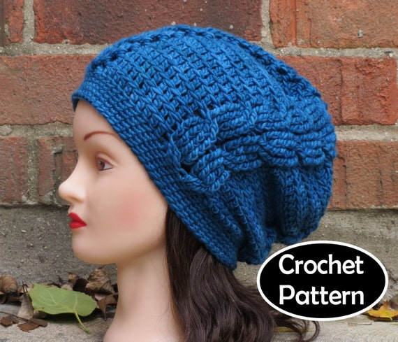 108f095d9a5 CROCHET HAT PATTERN Instant Download Pdf Aetheria Cabled