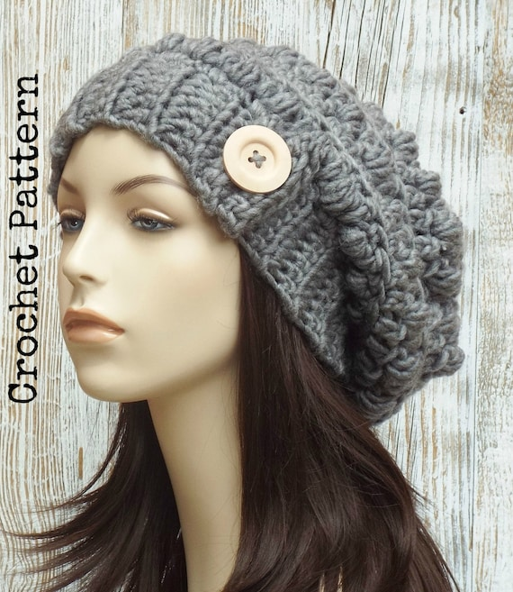 Crochet Hat Pattern Instant Download Pdf Olivia Chunky Etsy