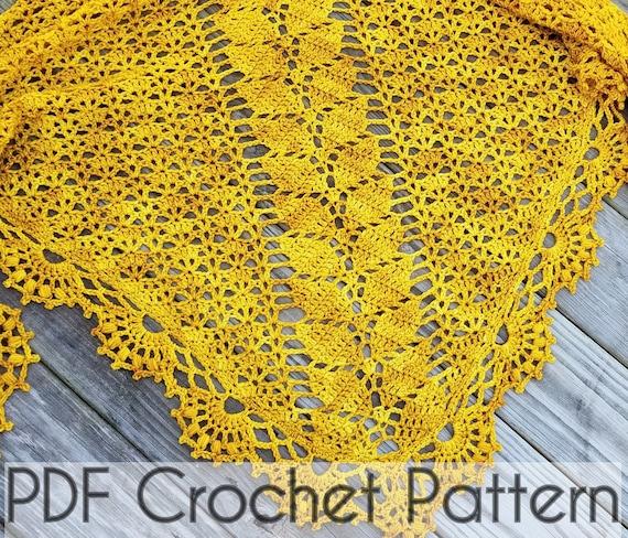 Crochet Shawl Pattern Wrap Leaf Shawl Pattern Instant Download Etsy