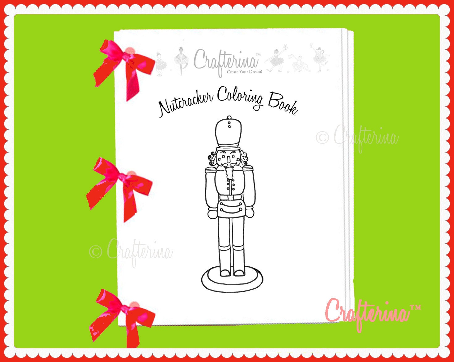 Nutcracker Ballet Printable Coloring & Activity Ribbon Book | Etsy