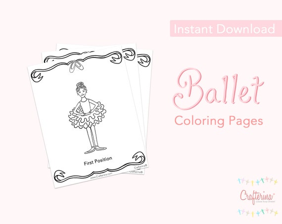 - Ballet PDF Coloring Sheets 11 Pages Printable Ballet Etsy